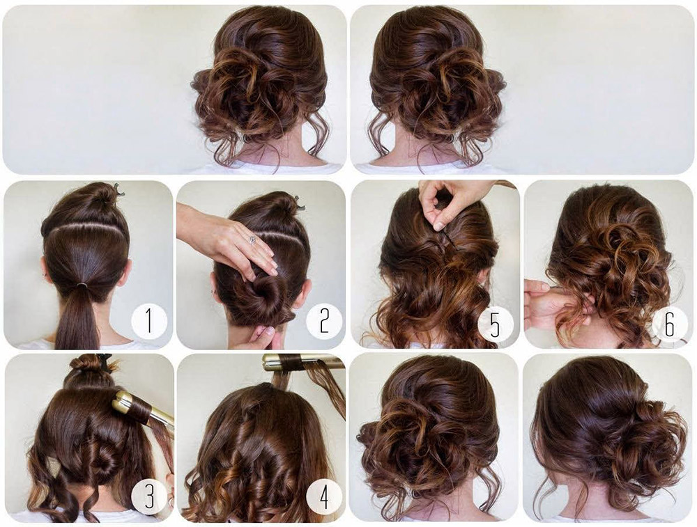 collected soft short hair tutorial
