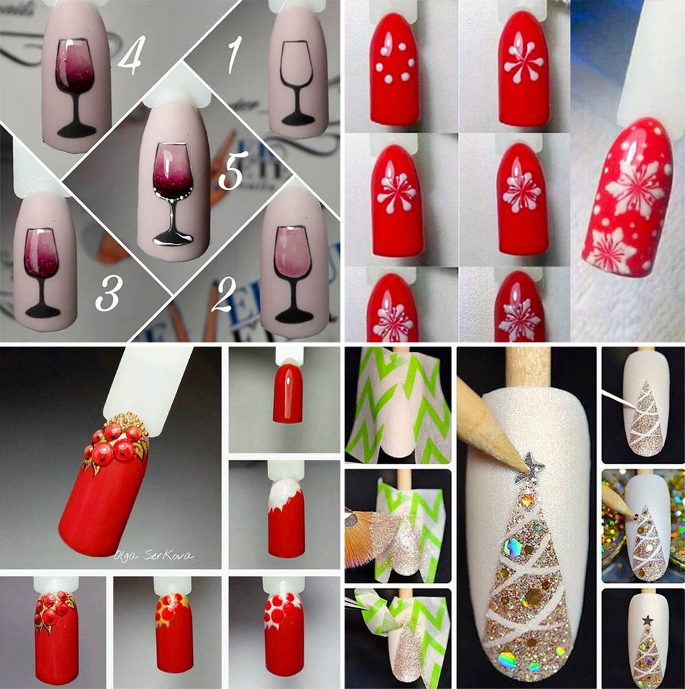 Nail Art Tutorial Christmas parties