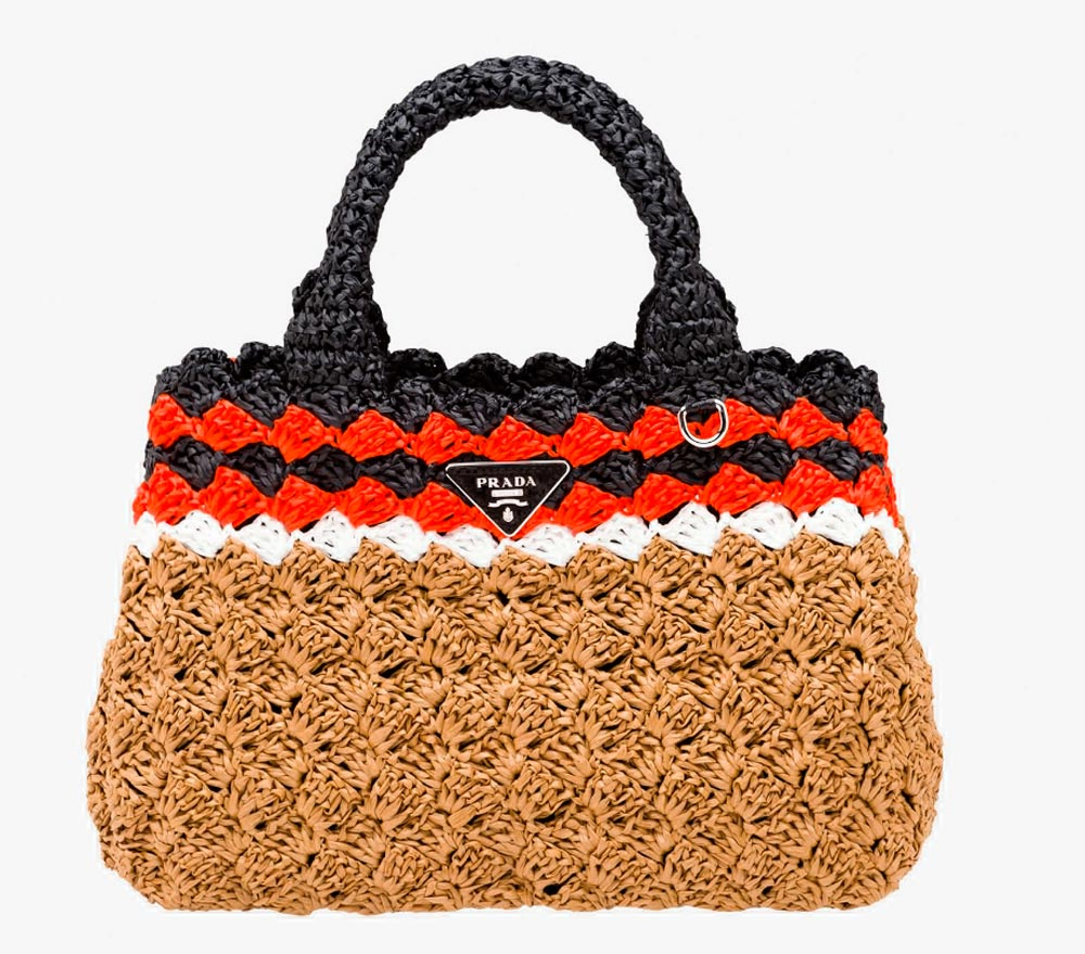 Prada bag in raffia