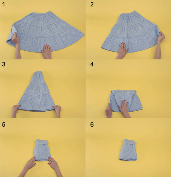 how to fold a skirt