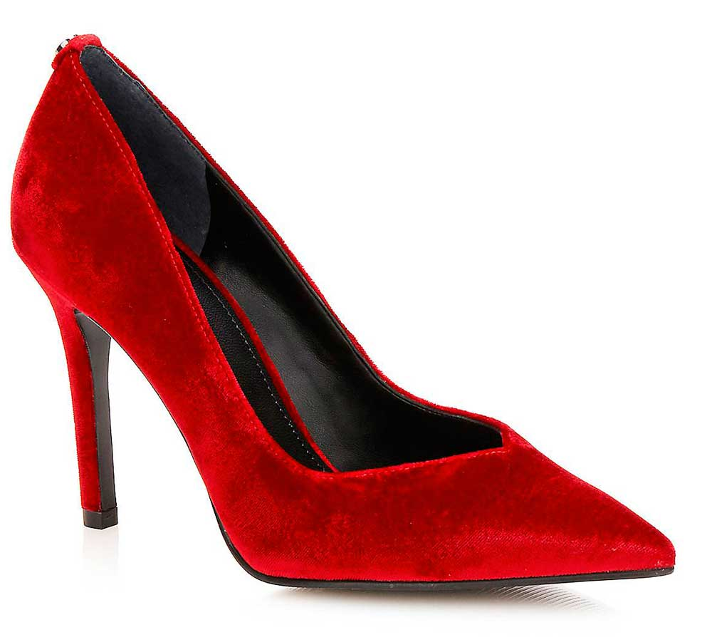 Guess Red suede decollete