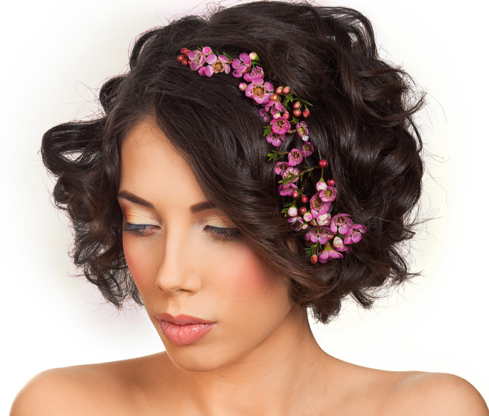 Floral Hairstyles Short Hair