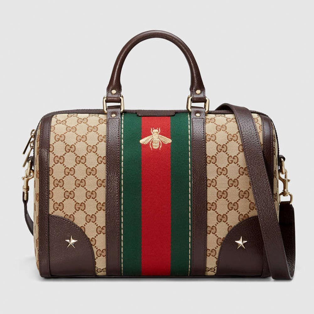Gucci satchel with bee