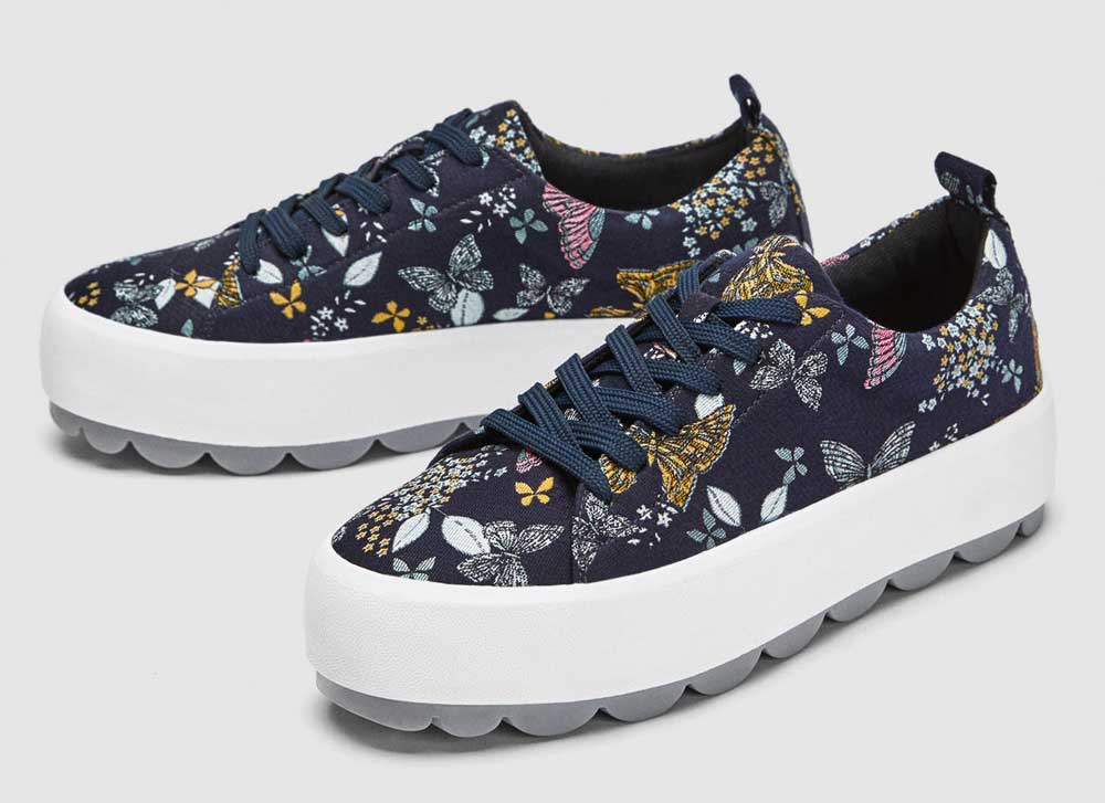 Zara flower sneakers