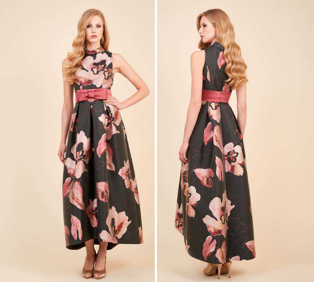 Long dress with bow belt