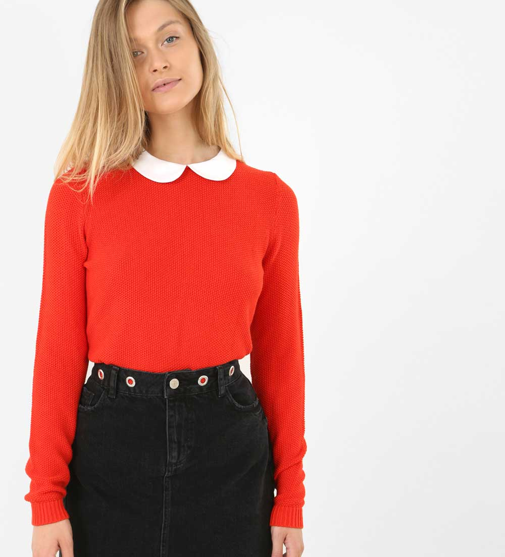 pimkie pullover with collar