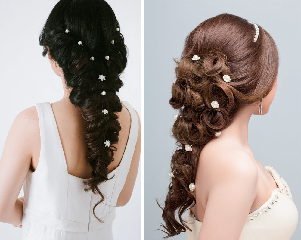 Hairstyles Bride Long Hair Braids