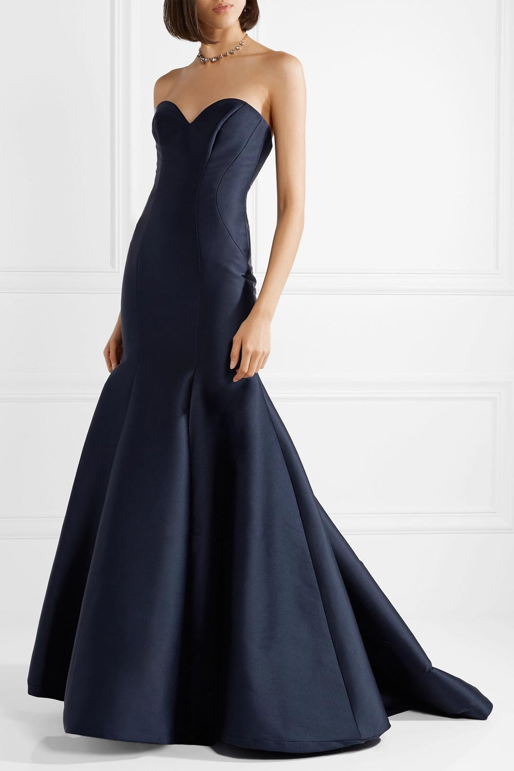 long ceremony dress with train