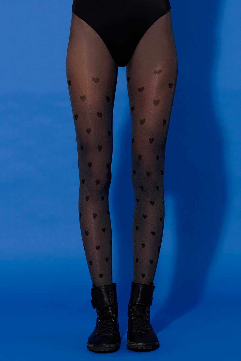 pantyhose with hearts