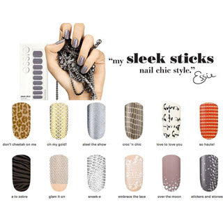 essie sleek stick stickers nails