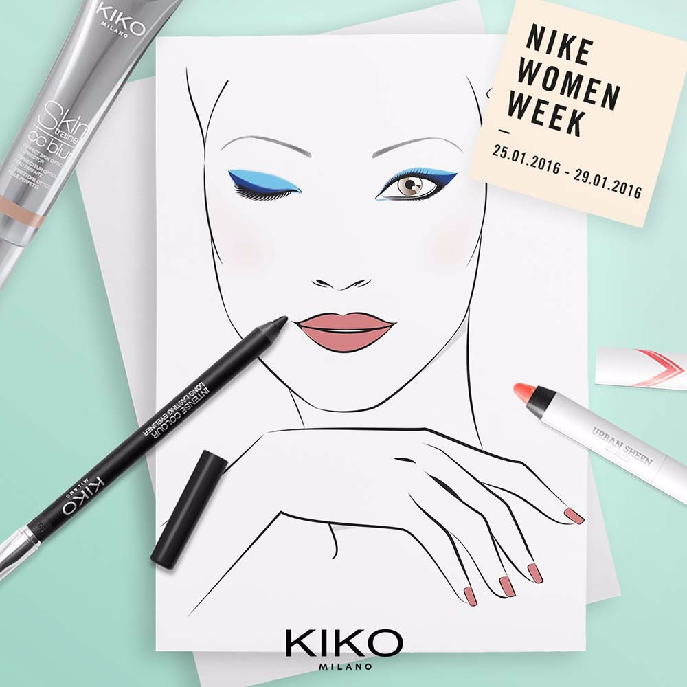 Free KIKO makeup for Nike Women Week Milan