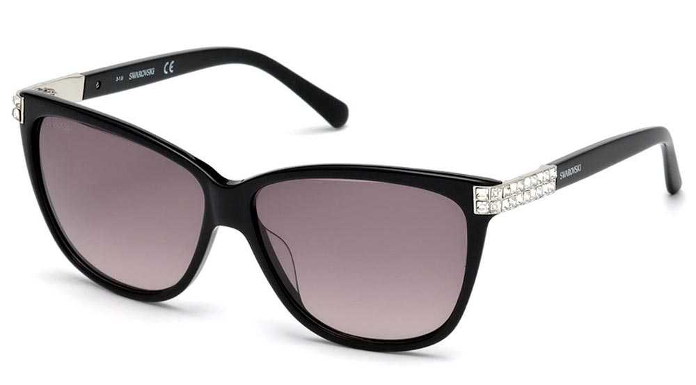 Swarovski sunglasses with white crystals