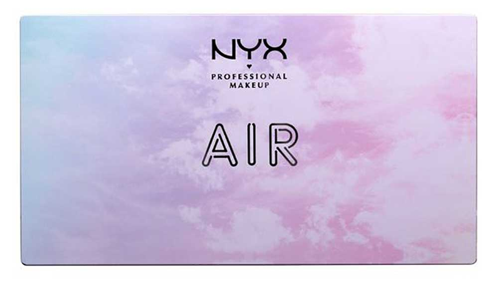 NYX palette and lipstick: water, earth, fire, air, metal, wind