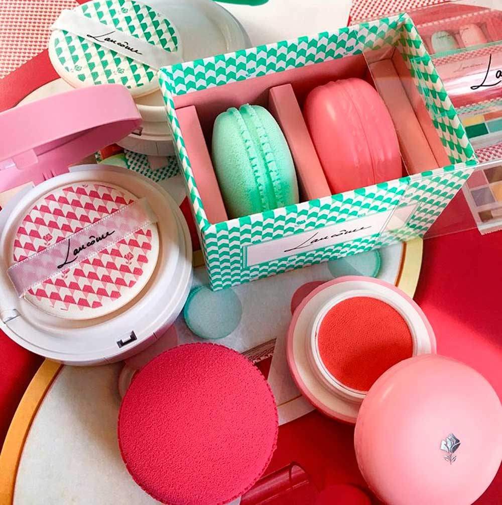 lancome blush, cushion and macaron sponges
