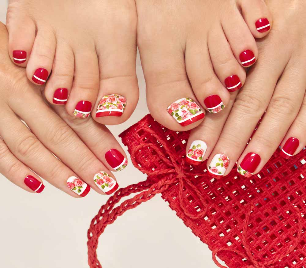 Nail art decals Valentine's Day