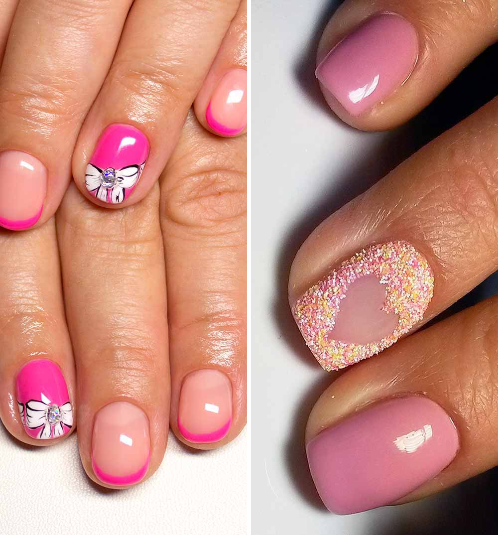 Valentine's day romantic nail art