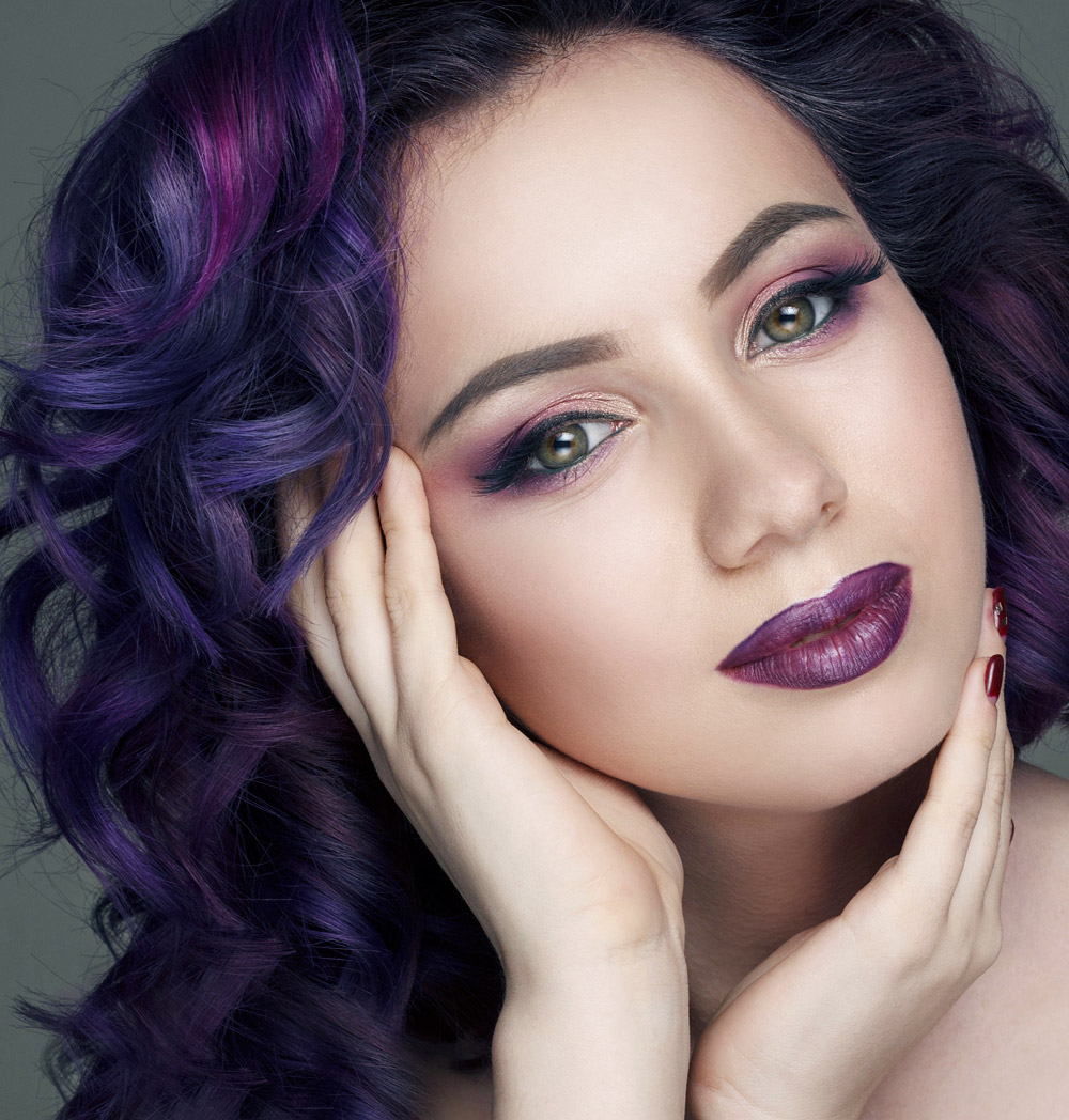 Ultra Violet Hair: 2018 purple color trends