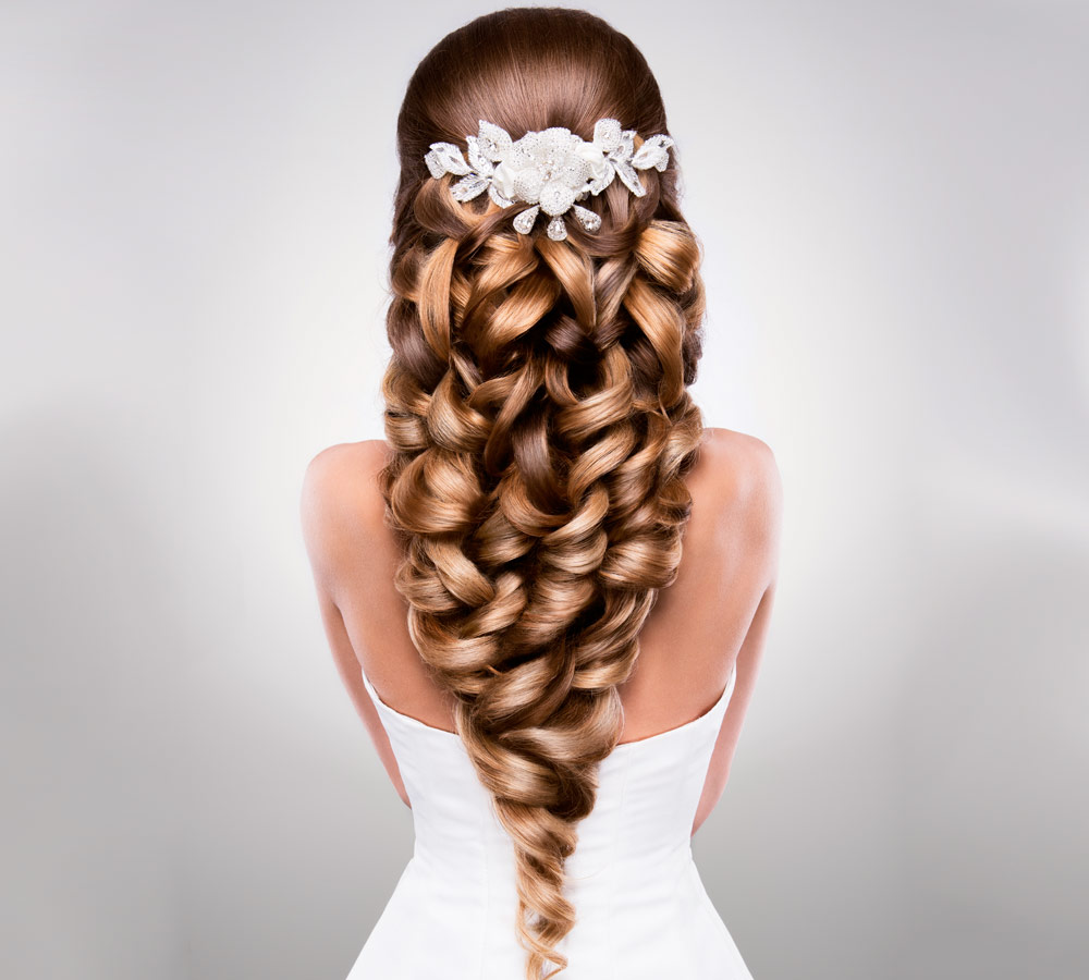 Hairstyle Bride Long Hair Curls