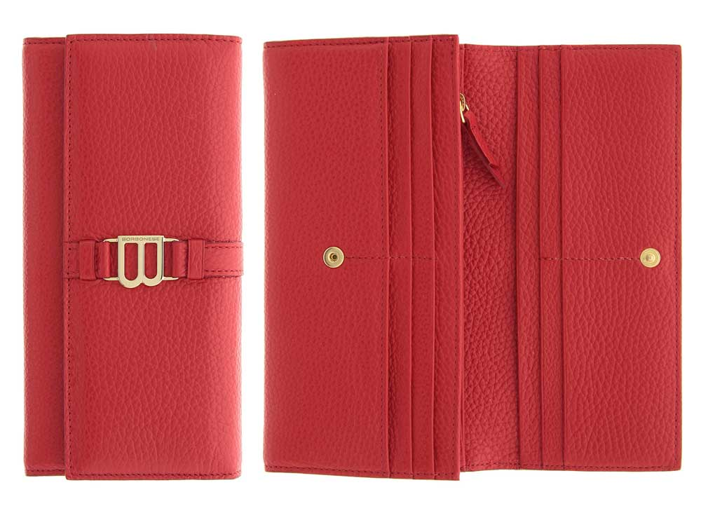 Bourbonese red wallet