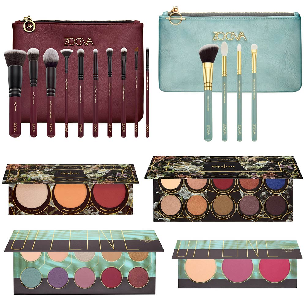 Brushes and Zoeva makeup palette