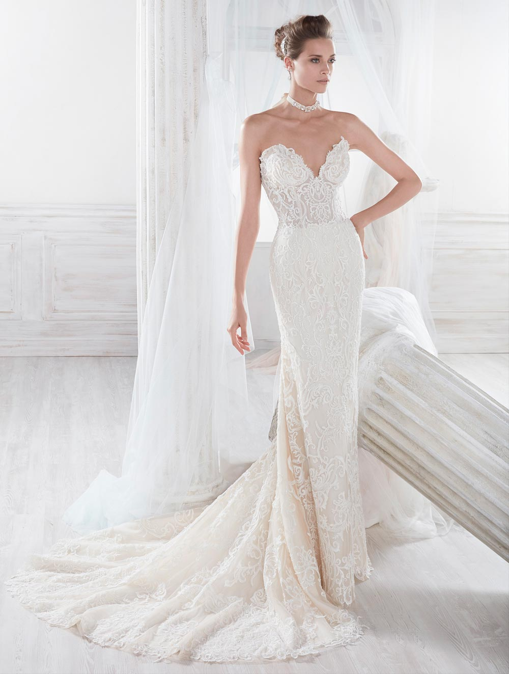 Wedding dresses in lace