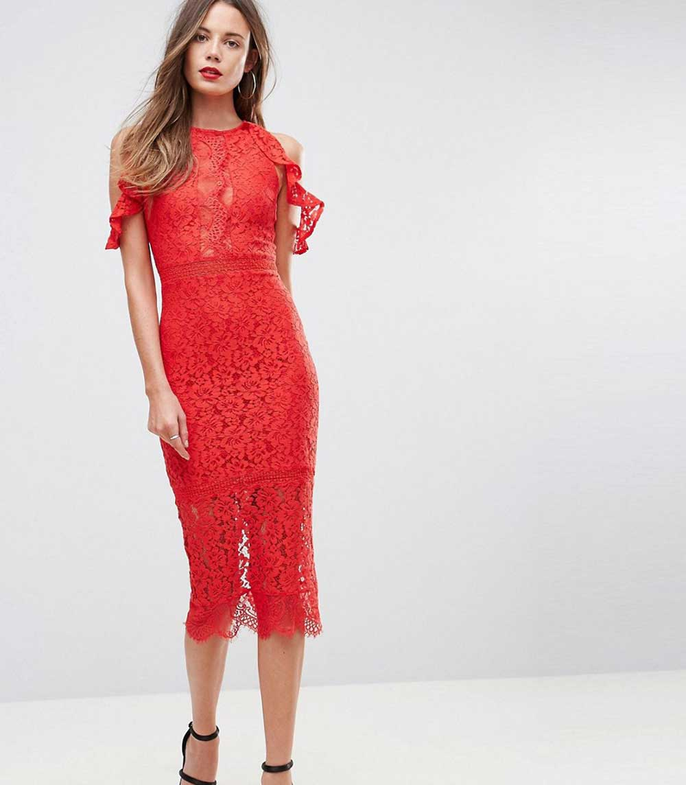 Short cocktail dresses in beaded lace