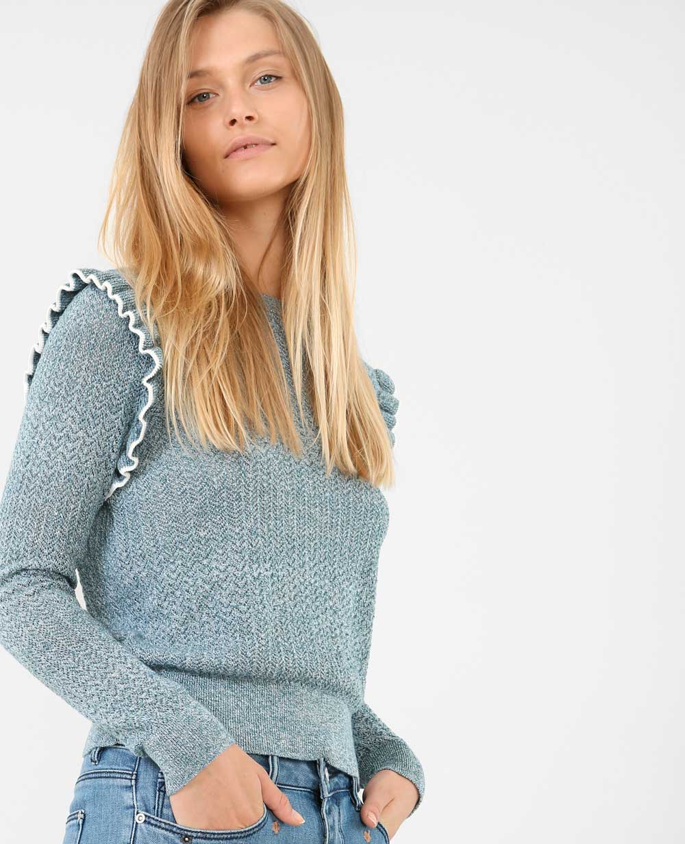 pimkie sweater with ruffle