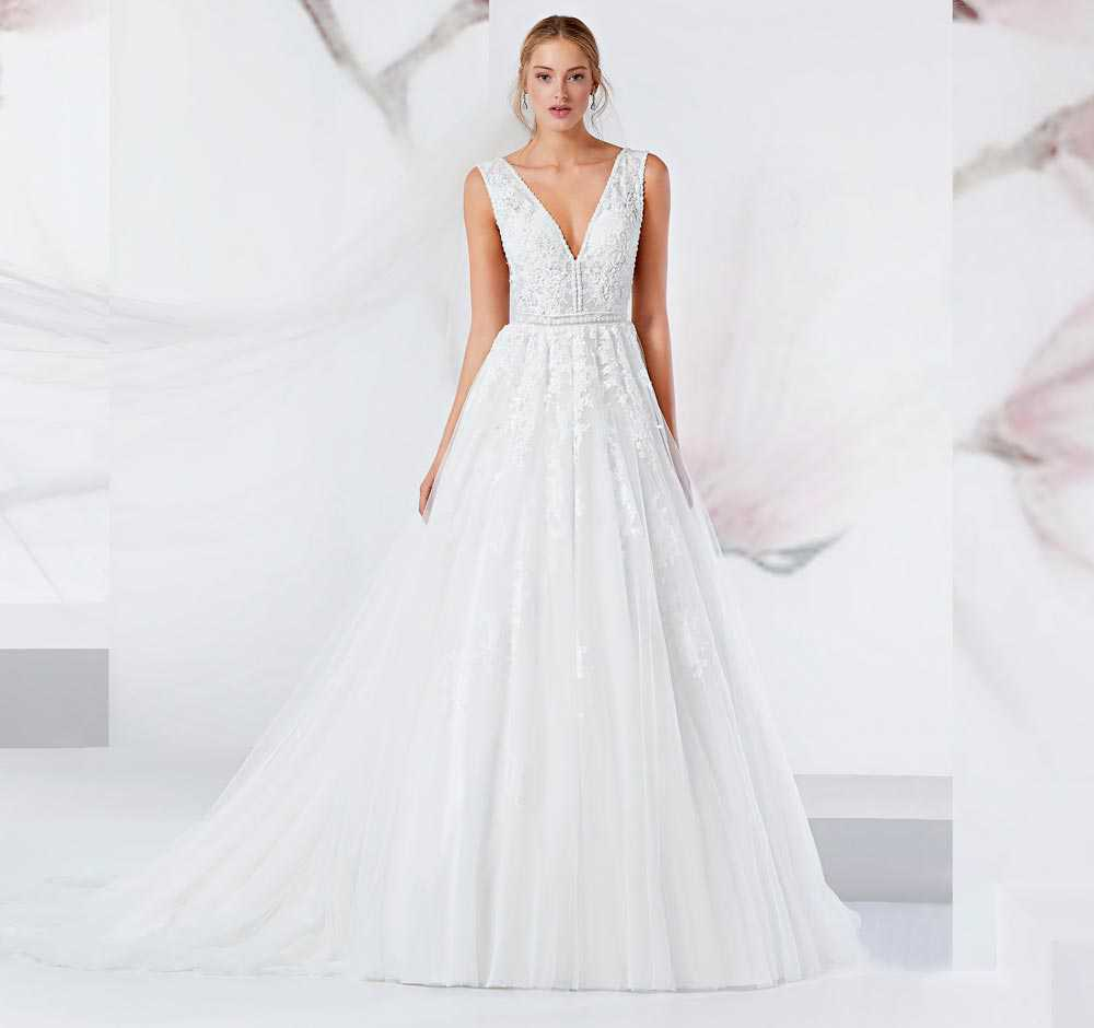 Wedding dresses with embroidery