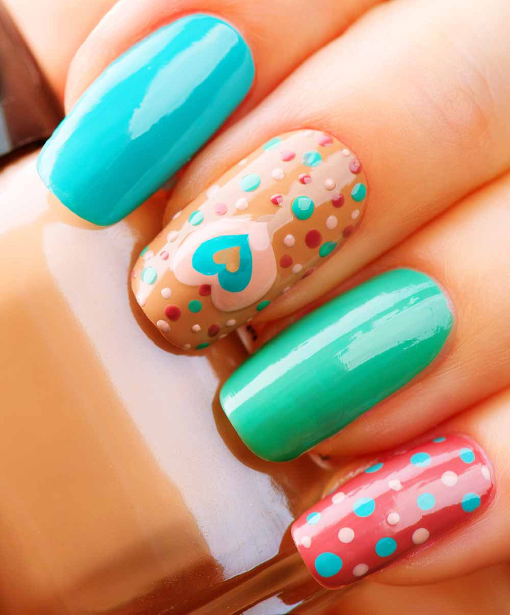 Nail Art Valentine 2018: 60 beautiful ideas