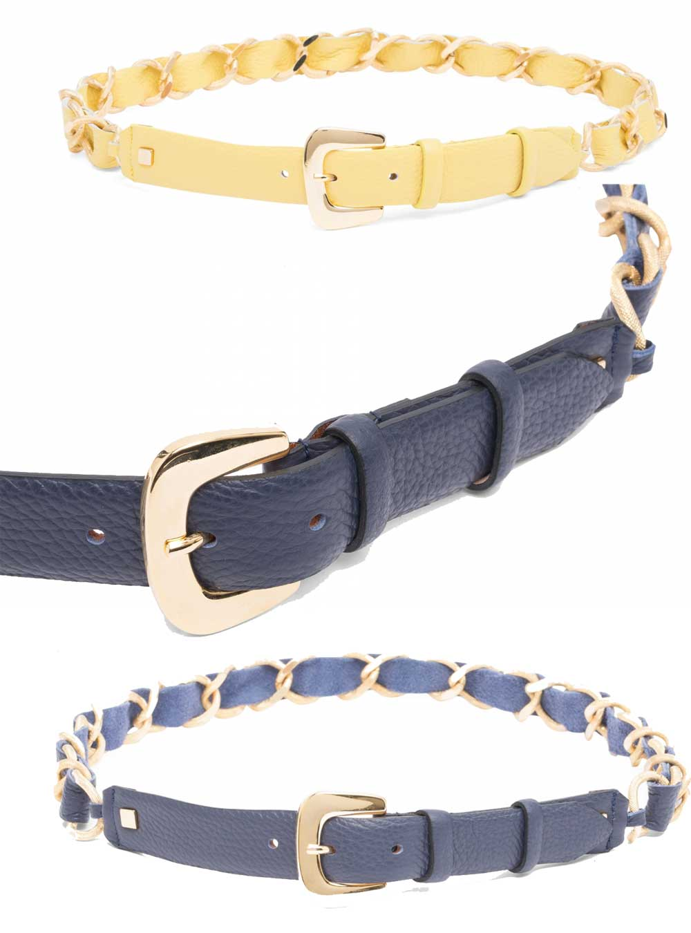 Luisa Spagnoli belts with chain