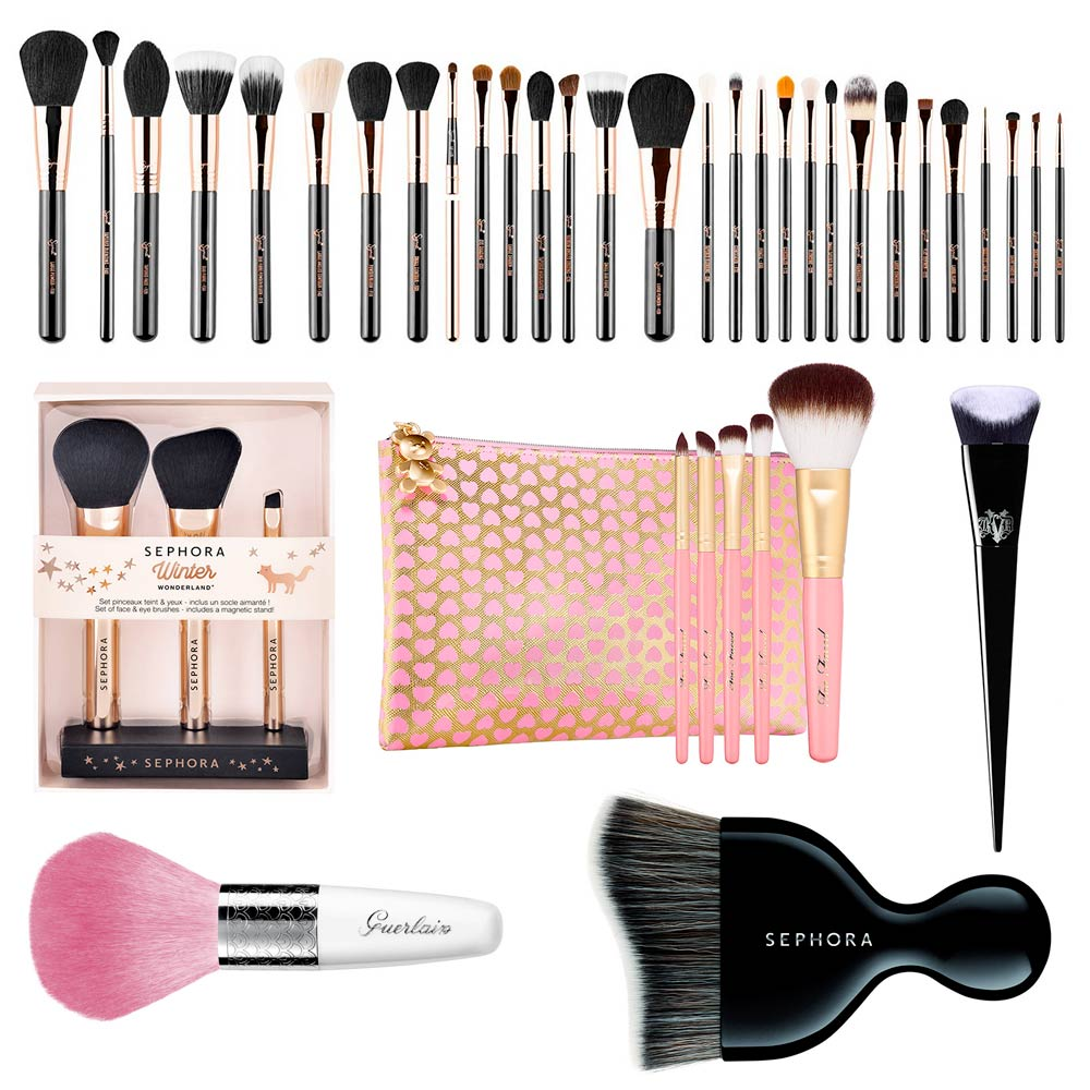 Discounted makeup brushes