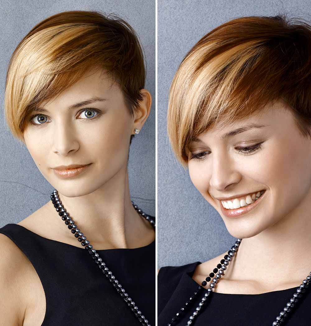 Short hair with a side tuft