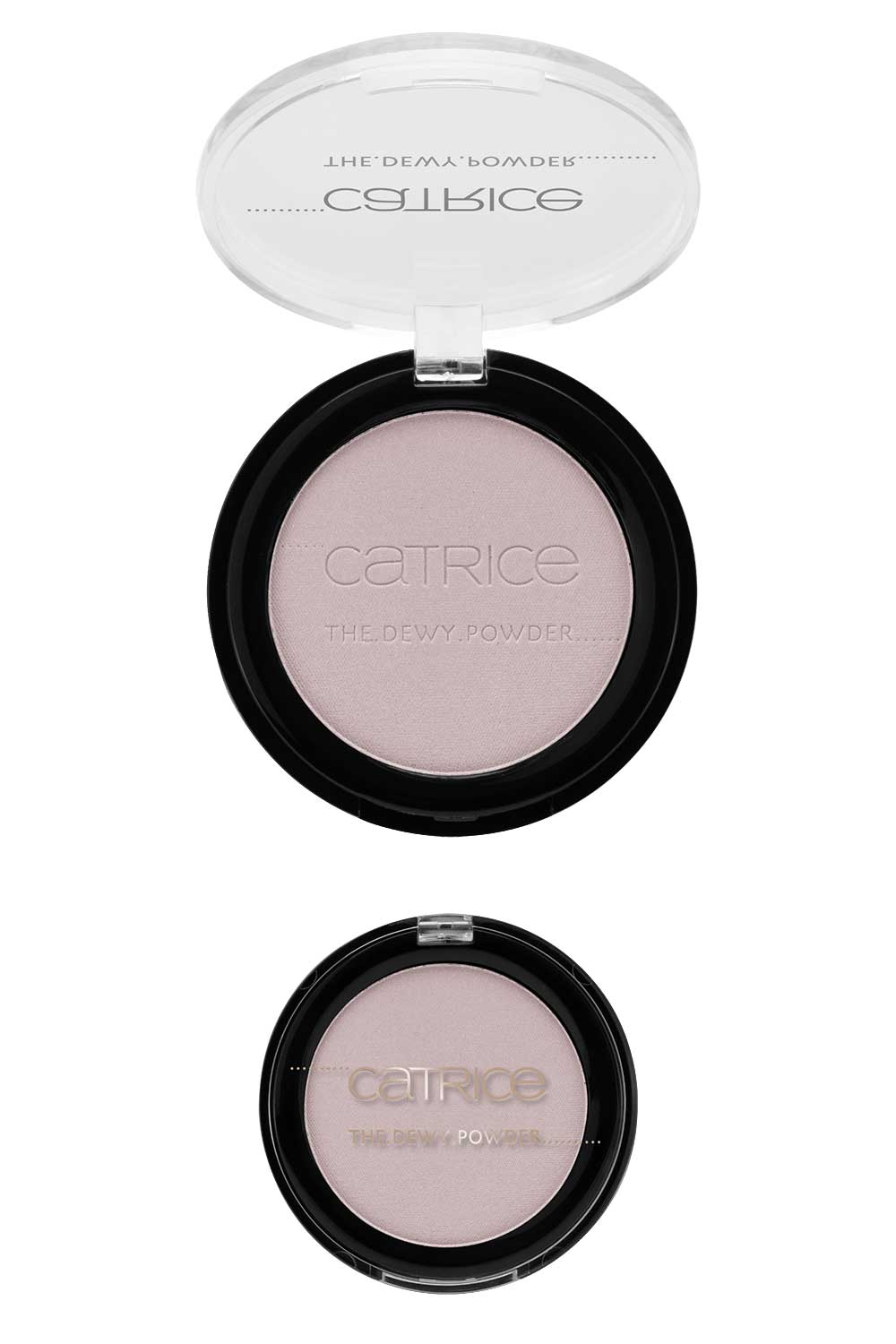 Catrice The Dewy Pink compact illuminating routine