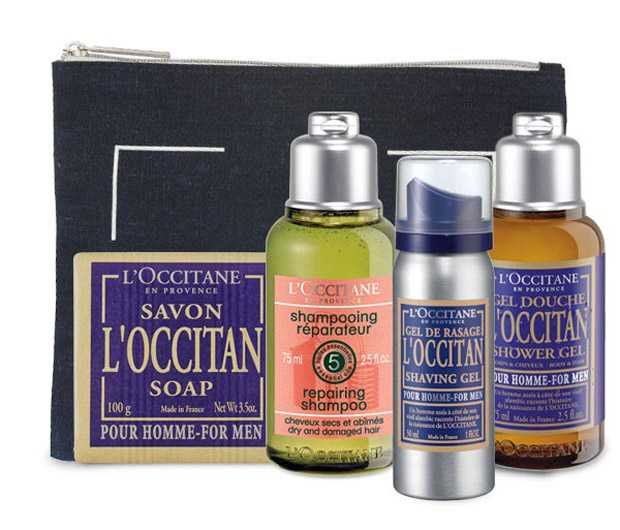 L'Occitane travel bag with mini sizes of the best products
