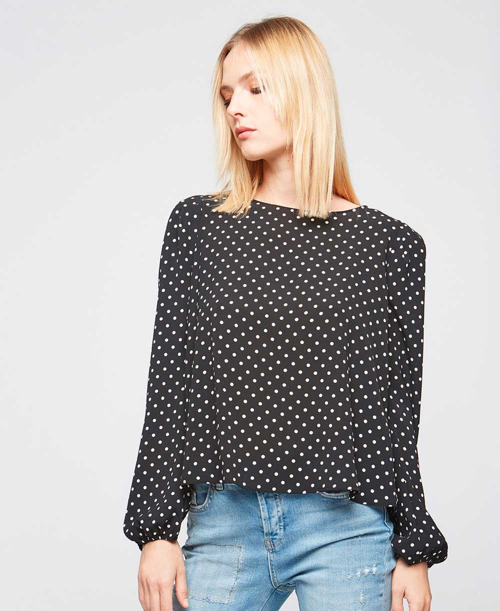 Motivi Blouse with polka dots