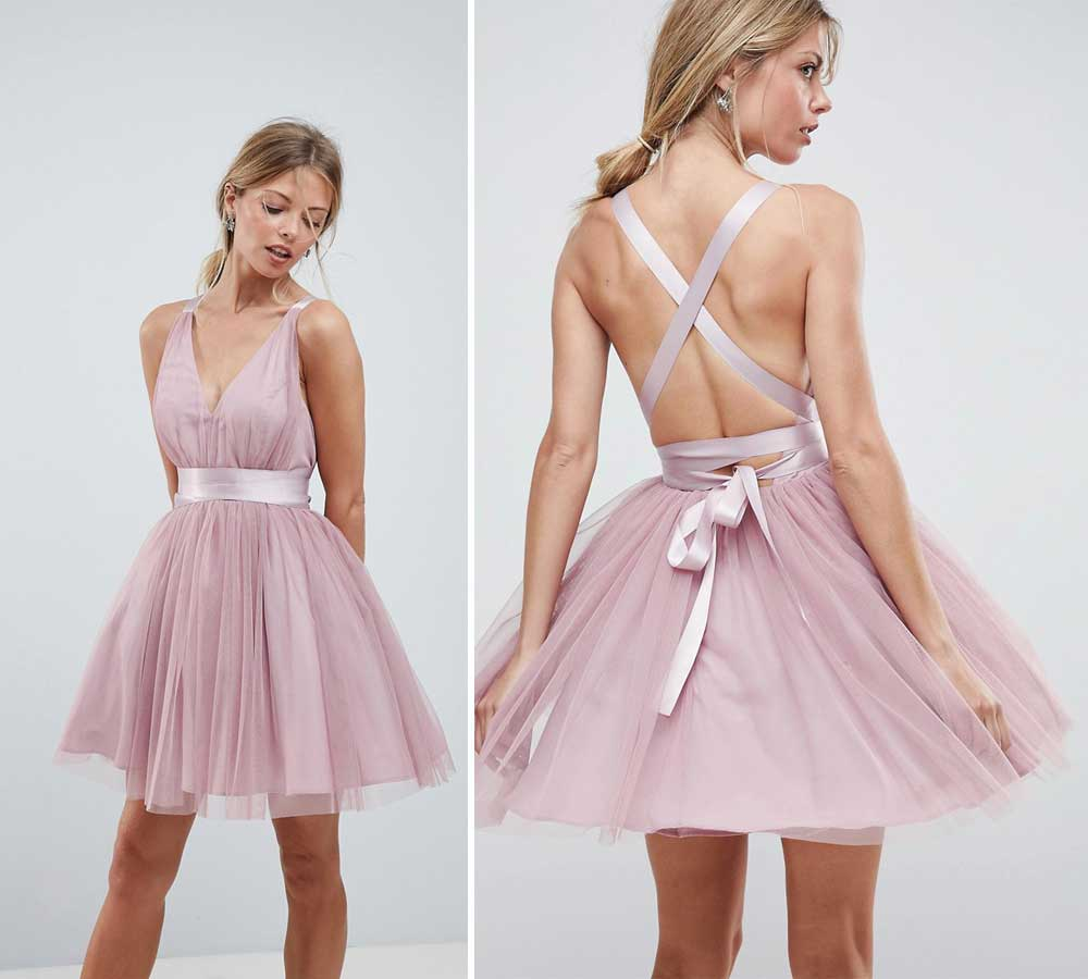 short cocktail dress in tulle