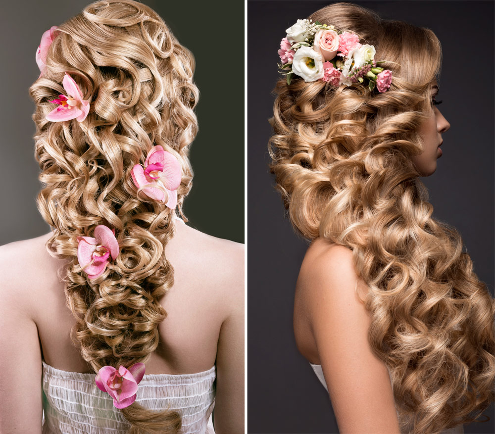 Hairstyle Curly Hair Bride