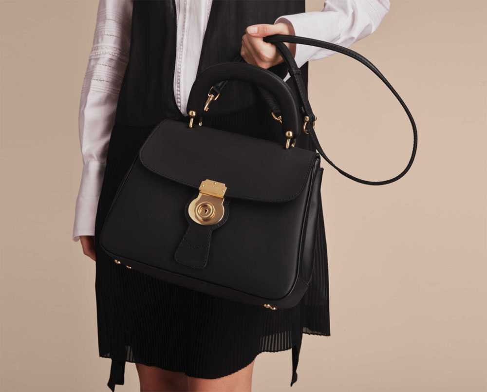 Black Burberry leather bag