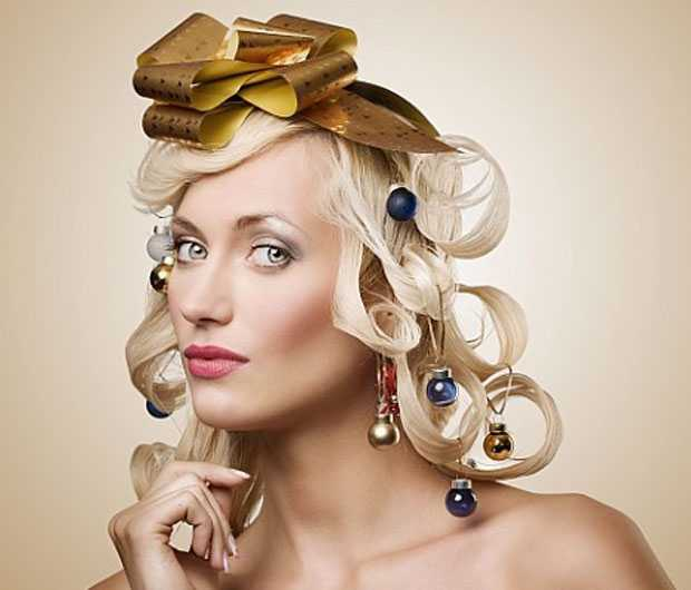 artistic hairstyles for Christmas