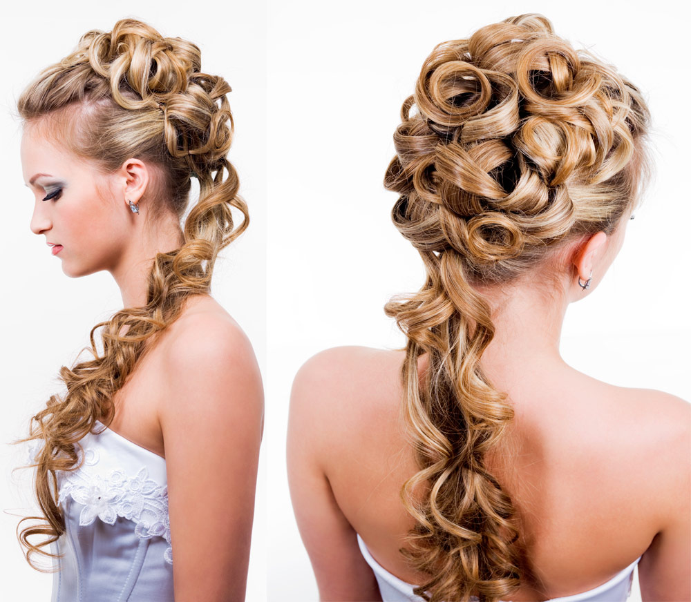 Hairstyles Bride Long Hair Collected