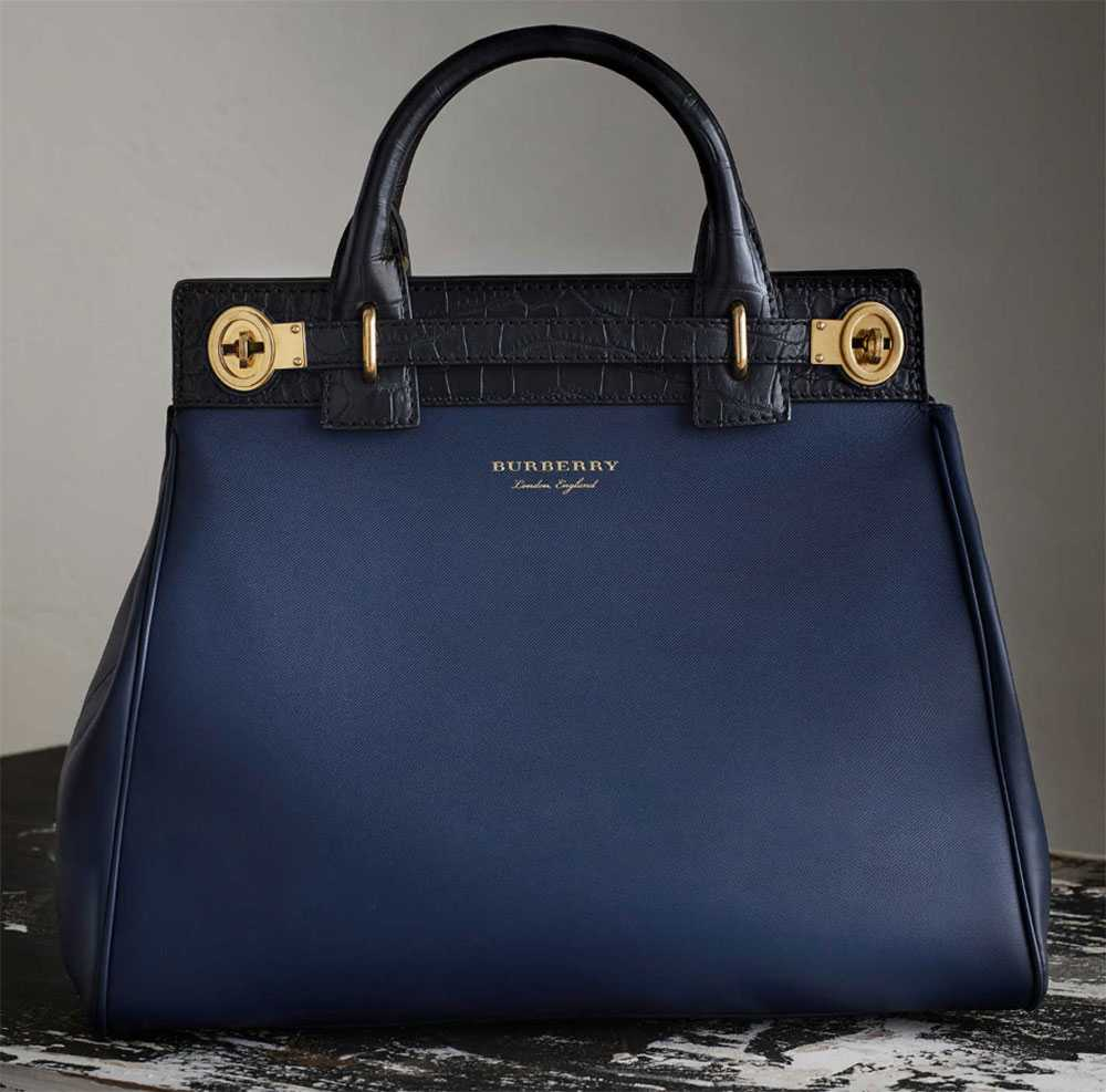 Burberry suitcase bag in alligator leather