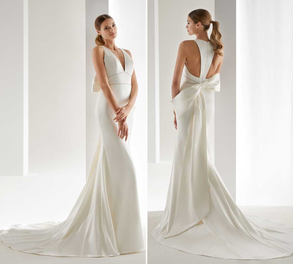 wedding dresses with train Nicole 2019