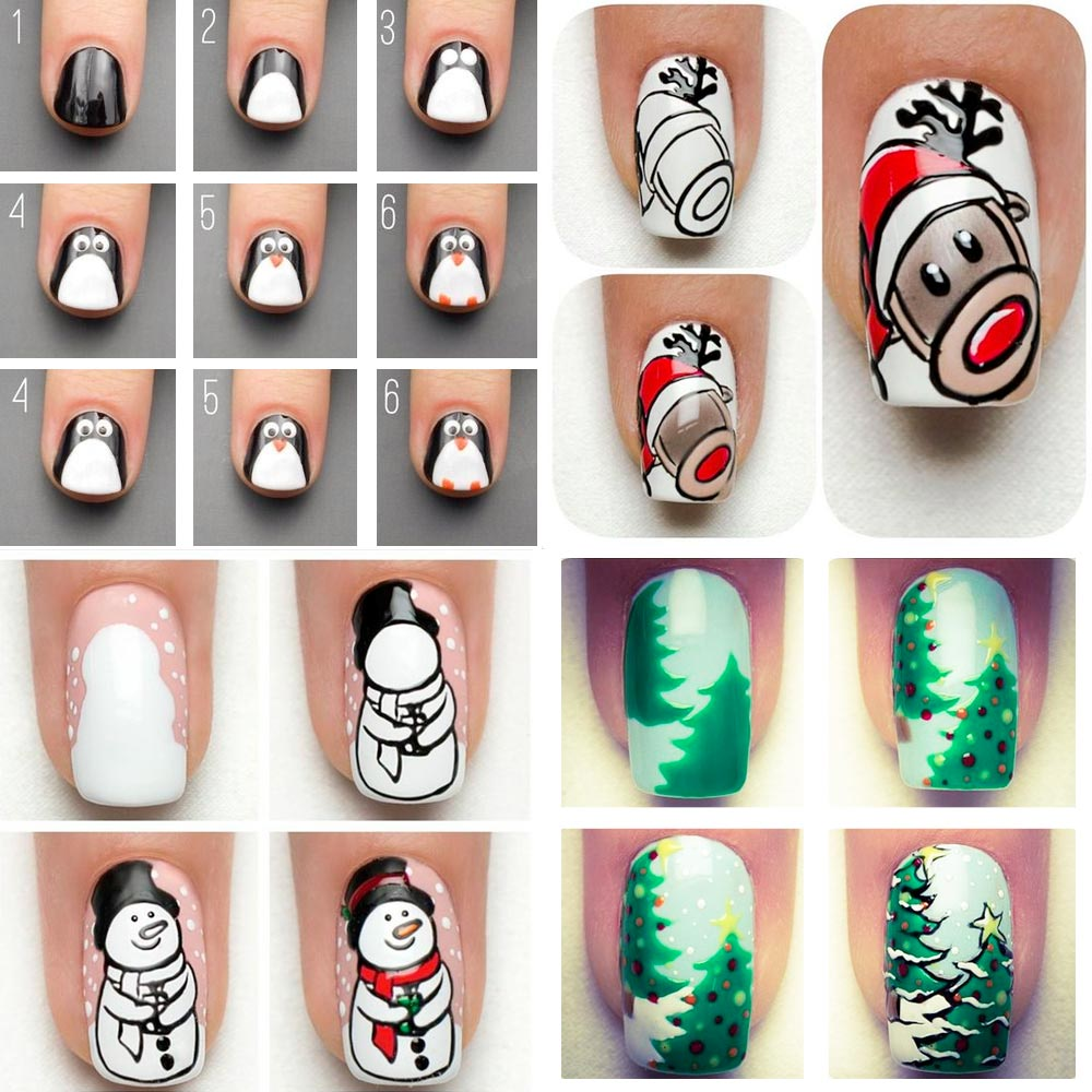 Simple nail art Christmas