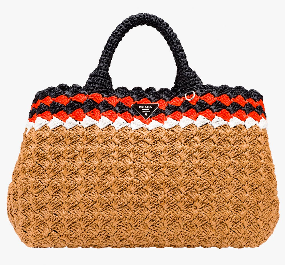 Prada wicker bag