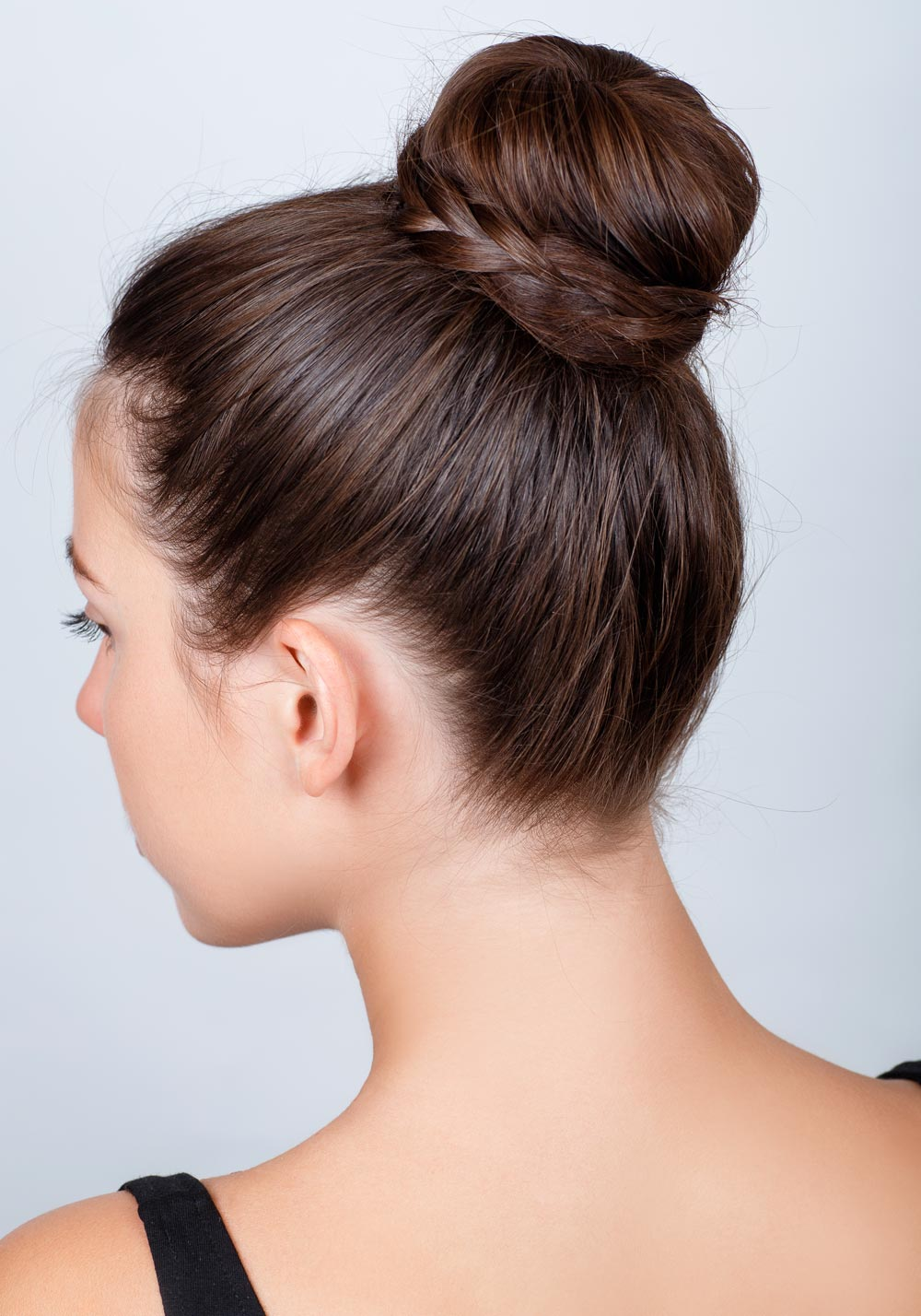 Chignon with braid