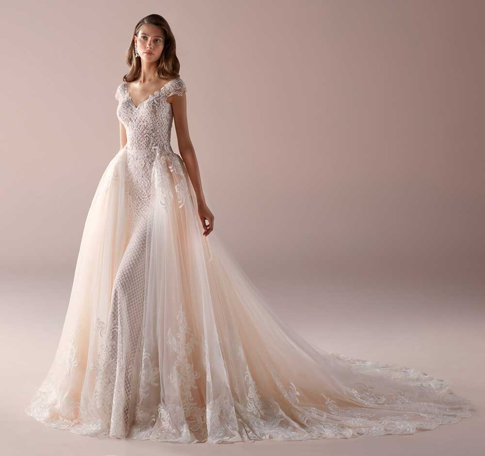 Nicole brides pink wedding dresses 2019