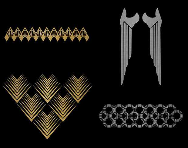 GoldSin geometric gold tattoos