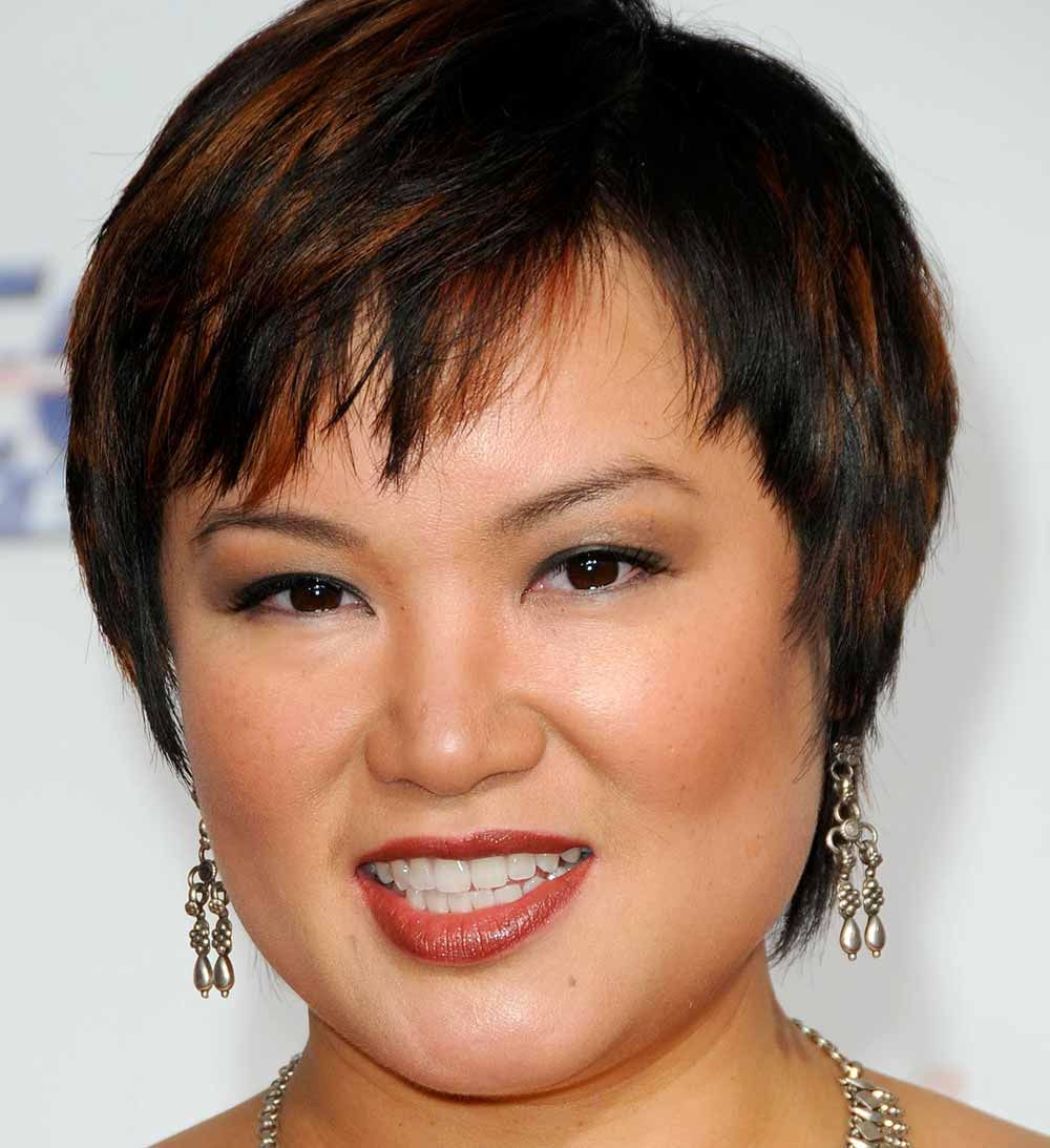 Pixie cut round face Angelin Chang