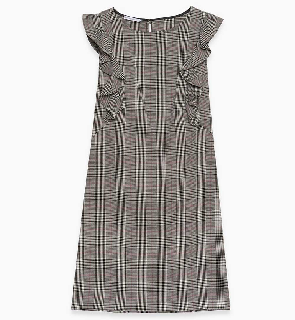 Motivi Sheath dress in check fabric