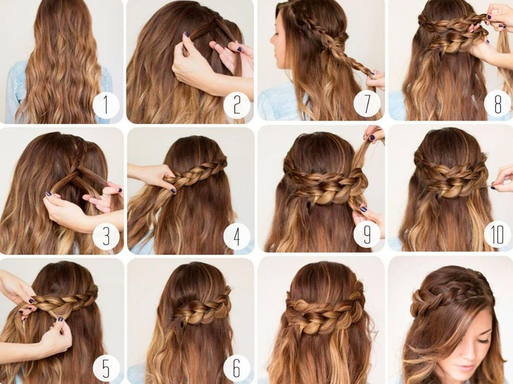 how to make simple new year's hairstyle